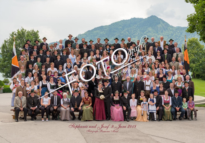 Gruppenfoto-Hochzeitsgruppenfoto