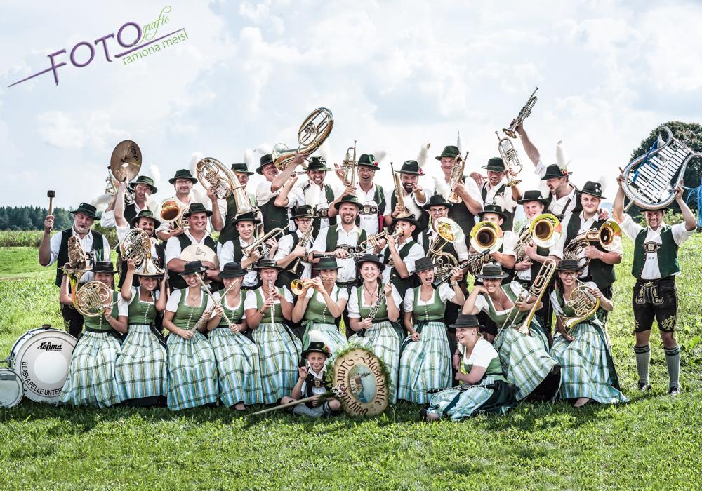 Gruppenfoto-Blaskapelle