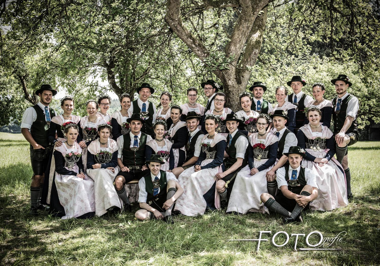 Gruppenfoto-Plattlergruppe