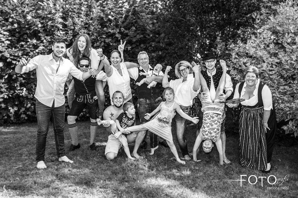 Familienfoto, Gruppenfoto Familie