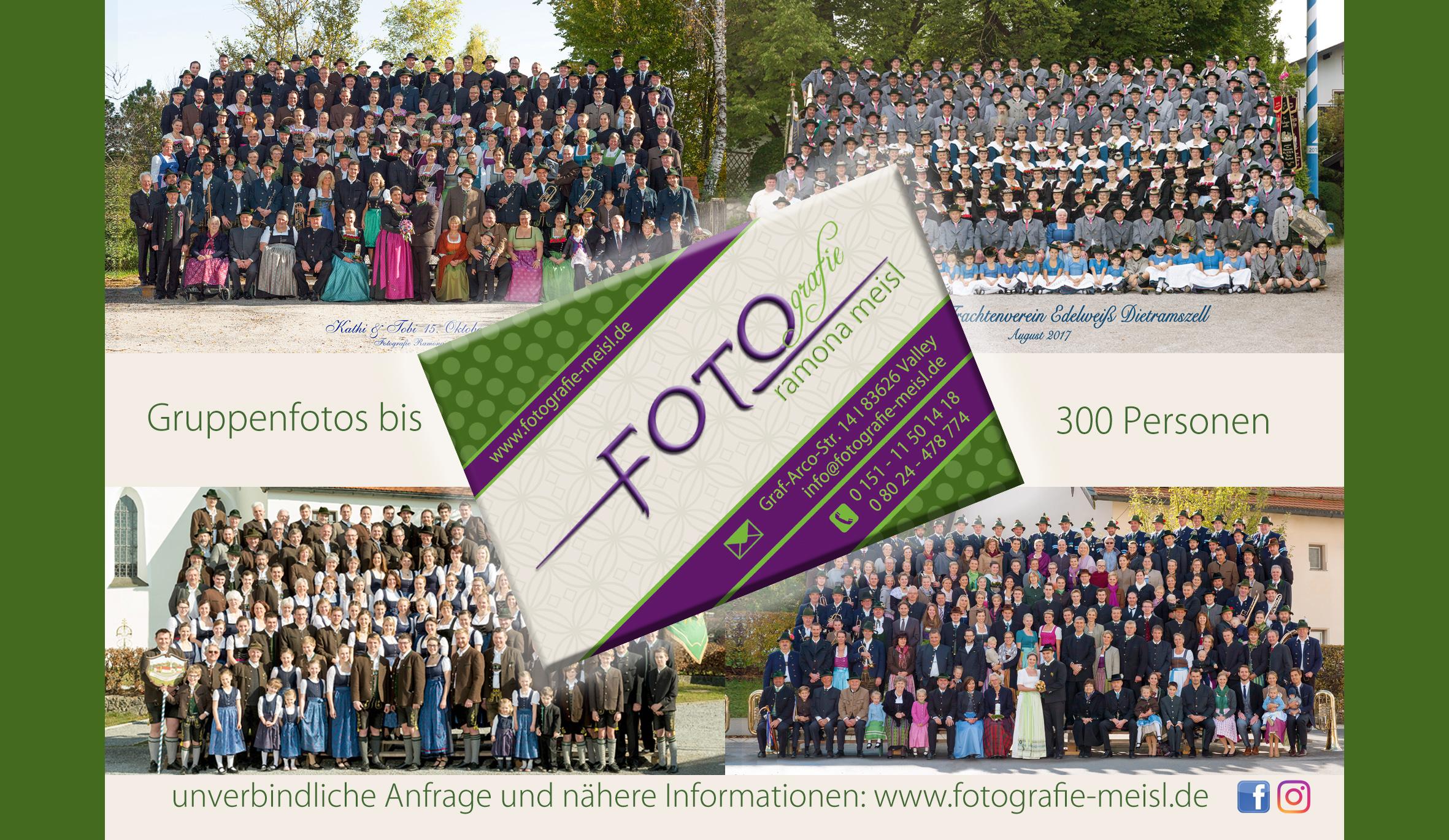 Gruppenfotografie bis 300 Personen